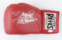 """Manny Pacquiao Signed Cleto Reyes Boxing Glove Inscribed """"PacMan (PSA COA) at PristineAuction.com"""