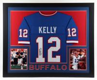 Jim Kelly Signed 35x43 Custom Framed Jersey Display (JSA COA) at PristineAuction.com
