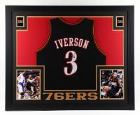 Allen Iverson Signed Custom Framed Jersey Display (JSA Hologram) at PristineAuction.com