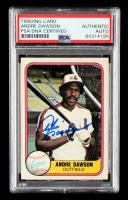 Andre Dawson Signed 1981 Fleer #145 (PSA Encapsulated) at PristineAuction.com