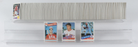 Complete Set of (792) 1985 Topps Baseball Cards with Kirby Puckett #536 RC, Mark McGwire 1985 Topps #401 Olympics RC, Roger Clemens 1985 Topps #181 RC with Card Box at PristineAuction.com