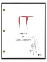 """Bill Skarsgard Signed """"IT"""" Movie Script (Beckett COA) at PristineAuction.com"""