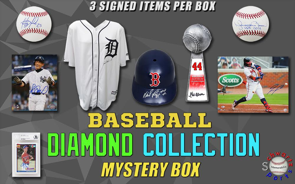 Schwartz Sports Baseball Diamond Collection Mystery Box – Series 7 (3 Autographed Baseball Collectibles In Every Box!!) at PristineAuction.com