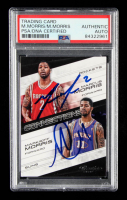 Marcus Morris and Markieff Morris Signed 2012-13 Prestige Connections #2 (PSA Encapsulated) at PristineAuction.com