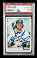 Clint Frazier Signed 2015 Topps Heritage Minors #114 (PSA Encapsulated) at PristineAuction.com