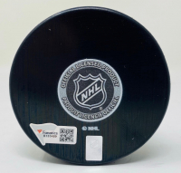 "Ilya Sorokin Signed Islanders Logo Hockey Puck Inscribed ""NHL Debut 1/16/21"" (Fanatics Hologram) at PristineAuction.com"
