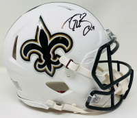 Drew Brees Signed Saints Full-Size Authentic On-Field Matte White Speed Helmet (Beckett Hologram) at PristineAuction.com