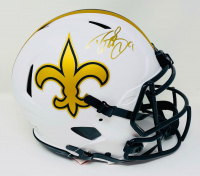 Drew Brees Signed Saints Full-Size Authentic On-Field Lunar Eclipse Alternate Speed Helmet (Beckett Hologram & Brees Hologram) at PristineAuction.com