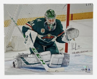 "Kaapo Kahkonen Signed LE Wild 16x20 Photo Inscribed ""1st NHL Shut Out 1/22/21"" (Fanatics Hologram) at PristineAuction.com"