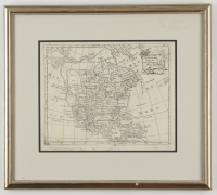 1786 Map of North America 14.5x13 Custom Framed Display (See Description) at PristineAuction.com