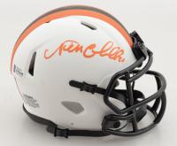 Nick Chubb Signed Browns Lunar Eclipse Alternate Speed Mini Helmet (Beckett COA) (See Description) at PristineAuction.com
