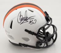 Clay Matthews Jr. Signed Browns Lunar Eclipse Alternate Speed Mini Helmet (Beckett COA) at PristineAuction.com