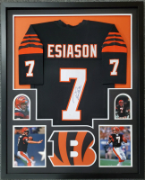 Boomer Esiason Signed 34x42 Custom Framed Jersey (JSA COA) at PristineAuction.com