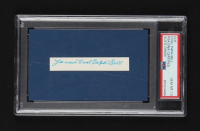 """James """"Cool Papa"""" Bell Signed .5x3.5 Cut (PSA Encapsulated) at PristineAuction.com"""