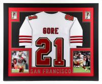 Frank Gore Signed 35.5x43.5 Custom Framed Jersey Display (JSA COA) at PristineAuction.com