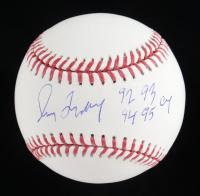 "Greg Maddux Signed OML Baseball Inscribed ""92 93 94 95 Cy"" (Radtke COA) at PristineAuction.com"