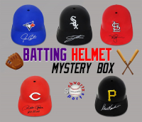 Schwartz Sports Baseball Souvenir Batting Helmet Signed Mystery Box – Series 4 (Limited to 100) at PristineAuction.com