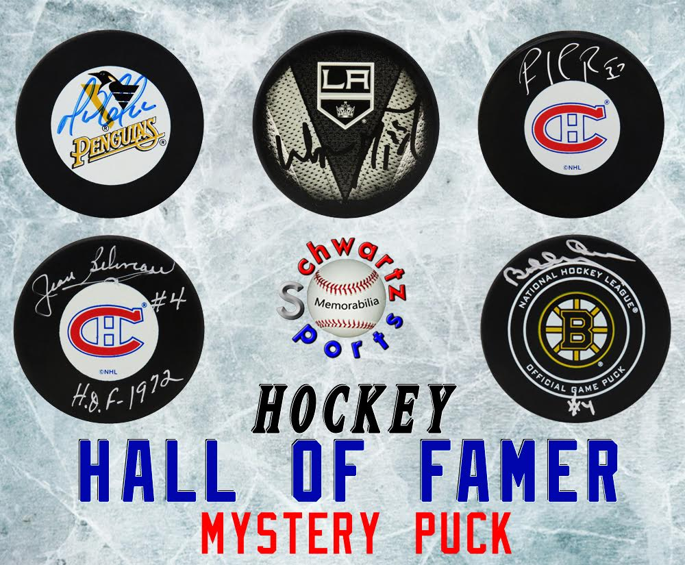 Schwartz Sports Hockey Hall of Famer Signed Logo Hockey Puck Mystery Box - Series 18 (Limited to 150) at PristineAuction.com