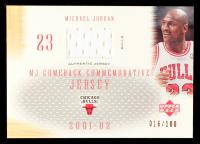 Michael Jordan 2001-02 Upper Deck MJ's Back Jerseys #CC3 Bulls #016/100 at PristineAuction.com
