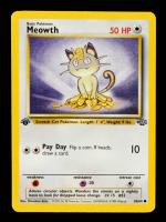 Meowth 1999 Pokemon Jungle Common 1st Edition #56 at PristineAuction.com