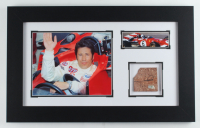 Mario Andretti Signed Indy 500 14x23 Custom Framed Indianapolis Motor Speedway Brick Piece Display (Fanatics Hologram) (See Description) at PristineAuction.com