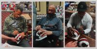 Andre Reed, Thurman Thomas, & Jim Kelly Signed Bills Lunar Eclipse Alternate Speed Mini Helmet (JSA COA) at PristineAuction.com