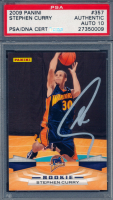 Stephen Curry Signed 2009-10 Panini #357 RC (PSA Encapsulated) at PristineAuction.com