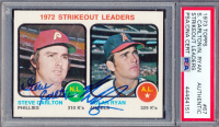 Steve Carlton & Nolan Ryan Signed 1973 Topps #67 Strikeout Leaders (PSA Encapsulated) at PristineAuction.com