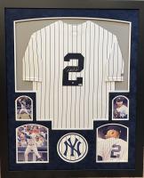 Derek Jeter Signed Yankees 35.5x43.5 Custom Framed Jersey Display (MLB Hologram & Steiner Hologram) at PristineAuction.com
