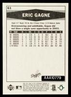 Eric Gagne 2004 SP Authentic Buybacks #EG4 04 Vintage #13/38 at PristineAuction.com