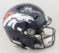 "Terrell Davis Signed Broncos Full-Size Authentic On-Field SpeedFlex Helmet Inscribed ""HOF 17"" & ""SB XXXII MVP"" (Beckett Hologram) (See Description) at PristineAuction.com"