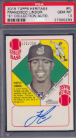 Francisco Lindor 2015 Topps Heritage '51 Collection Autographs #H51AFL RC #115/250 (PSA 10) at PristineAuction.com