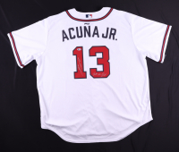 """Ronald Acuna Jr. Signed Braves Jersey Inscribed """"2018 NL ROY"""" (Beckett COA) at PristineAuction.com"""