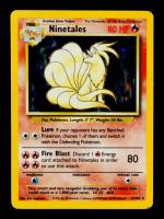Ninetales 1999 Pokemon Base Set Unlimited #12 Holo at PristineAuction.com