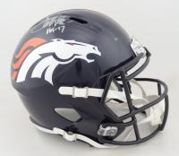 "Terrell Davis Signed Broncos Full-Size Speed Helmet Inscribed ""HOF 17"" (Beckett Hologram) at PristineAuction.com"
