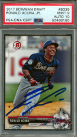 Ronald Acuna Signed 2017 Bowman Draft #BD39 (PSA Encapsulated - Graded 9) at PristineAuction.com