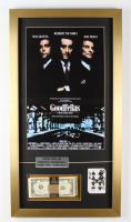"""Henry Hill Signed """"Goodfellas"""" 15x28 Custom Framed Card Display with Replicas Movie Poster & Stack of Prop Money (PSA COA) at PristineAuction.com"""