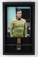 "William Shatner Signed ""Star Trek: The Original Series"" 14.5x23.5 Custom Framed Shadowbox Display with Vintage Star Trek Prop Replica Communicator (JSA COA) at PristineAuction.com"
