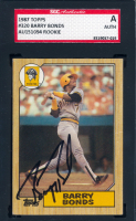 Barry Bonds Signed 1987 Topps #320 RC (SGC Encpasulated) at PristineAuction.com