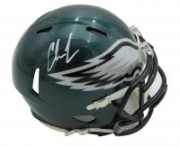 Chris Long Signed Eagles Speed Mini Helmet (JSA COA) at PristineAuction.com