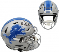 Barry Sanders Signed Lions Full-Size Authentic On-Field SpeedFlex Helmet (Schwartz COA) at PristineAuction.com