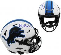 Barry Sanders Signed Lions Full-Size Authentic On-Field Lunar Eclipse Alternate SpeedFlex Helmet (Schwartz COA) at PristineAuction.com