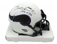"Fran Tarkenton Signed Vikings Lunar Eclipse Alternate Speed Mini Helmet Inscribed ""HOF '86"" (JSA COA) at PristineAuction.com"