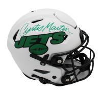 Curtis Martin Signed Jets Full-Size Authentic On-Field Lunar Eclipse Alternate SpeedFlex Helmet (Radtke COA) at PristineAuction.com