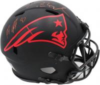 Tom Brady & Rob Gronkowski Signed Patriots Full-Size Authentic On-Field Eclipse Alternate Speed Helmet (Fanatics Hologram & Radtke COA) at PristineAuction.com