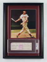 Ted Williams Signed Red Sox 16x22 Custom Framed Personal Bank Check Display (PSA Encapsulated) at PristineAuction.com