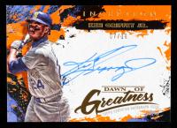 Ken Griffey Jr. 2021 Topps Inception Dawn of Greatness Autographs Orange #DOGAKGJ #07/10 at PristineAuction.com
