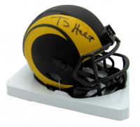 Torry Holt Signed Rams Eclipse Alternate Speed Mini Helmet (Beckett Hologram) at PristineAuction.com