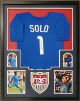 Hope Solo Signed 34x42 Custom Framed Jersey (JSA COA) at PristineAuction.com