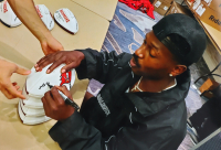 Antonio Brown Signed Buccaneers Logo Football (JSA COA) at PristineAuction.com